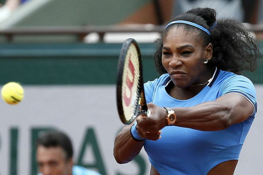Serena Williams in action against Kristina Mladenovic of France.