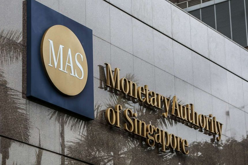 The logo of the Monetary Authority of Singapore (MAS) in Singapore.