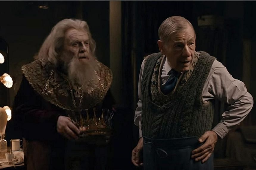 Anthony Hopkins (far left) and Ian McKellen in The Dresser.