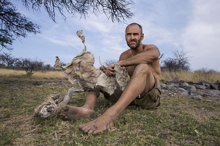 Ed Stafford (above in Namibia) films all his shows himself.
