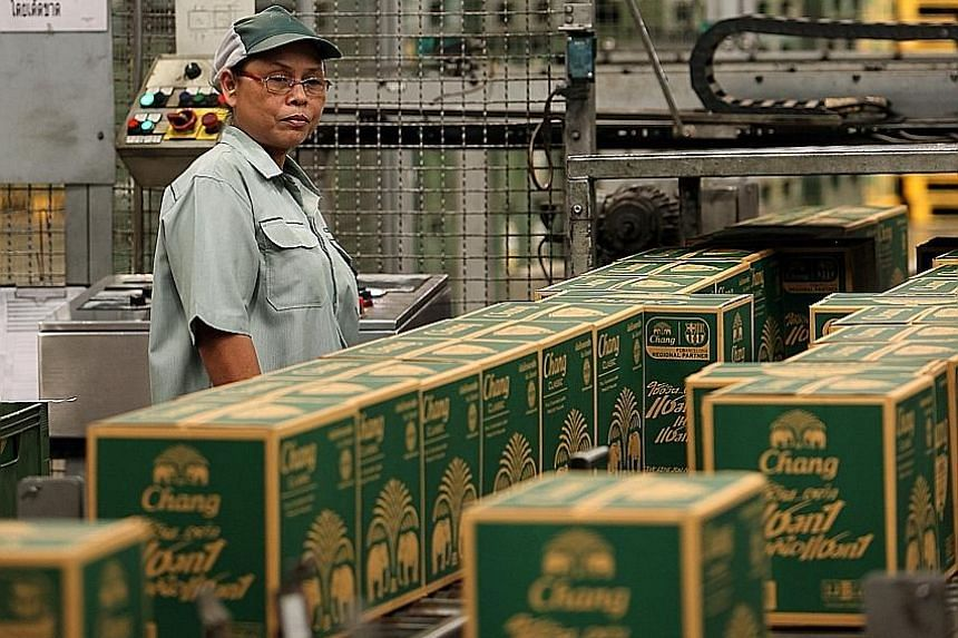 Thai Beverage, maker of Thailand's Chang beer, was the biggest winner this month, outperforming the market with a 20.1 per cent growth. The worst-performing STI stocks in May include Jardine C&C and Wilmar.