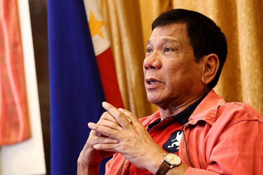 Philippines' president-elect Rodrigo Duterte at a press conference in Davao City, in southern island of Mindanao on May 26.