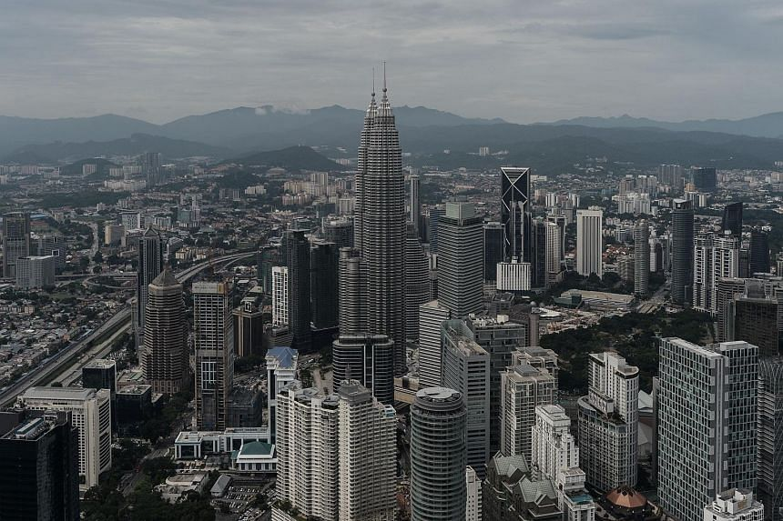General view of the Kuala Lumpur, Malaysia, city skyline from the observation deck of the KL Tower on May 24.