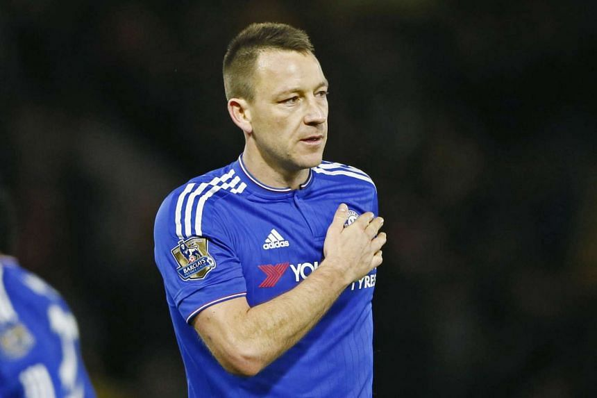 Chelsea's John Terry acknowledges fans after the game against Watford.