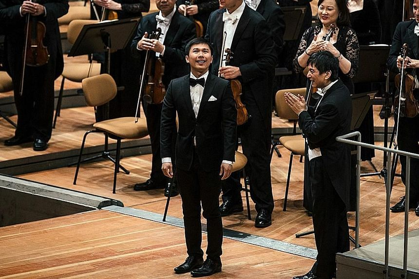 Singaporean Chen Zhangyi (far left, pictured with Shui Lan) premiered his composition An Ethereal Symphony at the Berliner Philharmonie.