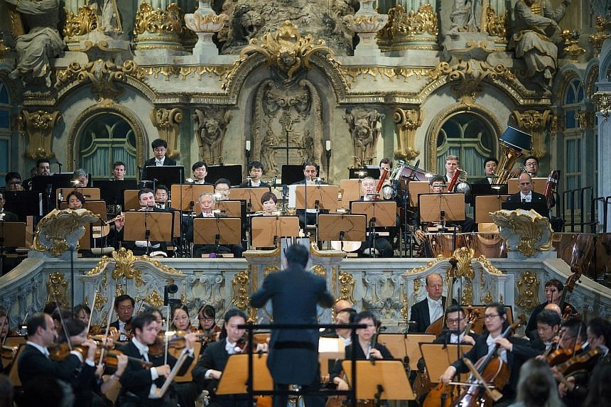 The SSO at the majestic Dresden Frauenkirche (above), a restored 18th-century church.