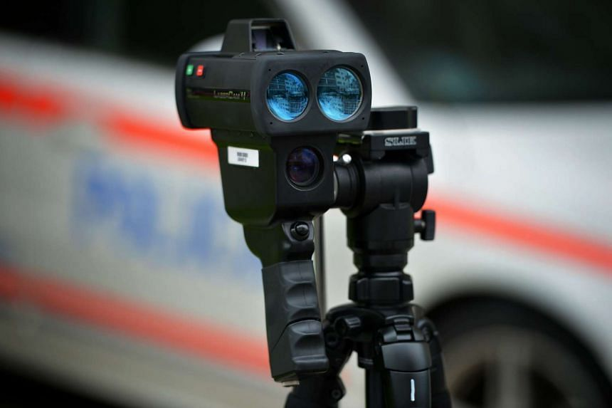 The latest Police Speed Laser Camera (PSLC) aquired by the Traffic Police.