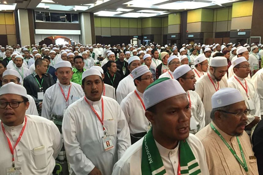 Delegates attending the congress of the youth wing of Malaysia's opposition Parti Islam SeMalaysia (PAS) on May 31, 2016.