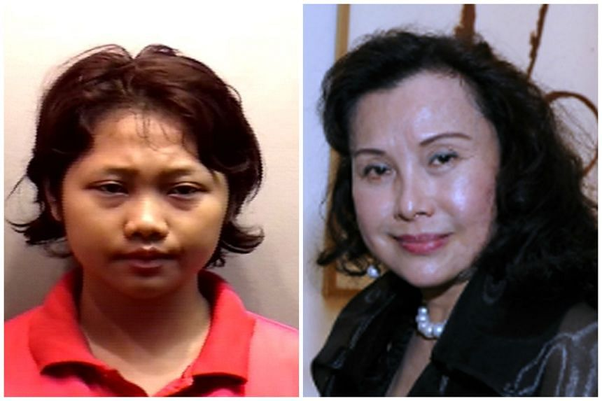 Indonesian maid Dewi Sukowati (left) was sentenced to 18 years' jail on Tuesday (May 31) for culpable homicide not amounting to murder of the 69-year-old Madam Nancy Gan.