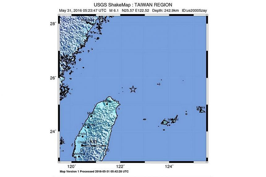 An earthquake with a magnitude of 6.1 shook parts of Taiwan on Tuesday (May 31).