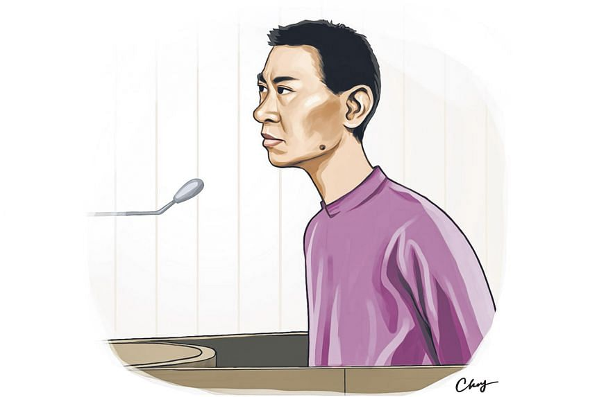 Yang looked tense as he was led into the courtroom yesterday. He tried to make eye contact with Madam Chung and Madam Mok and shuffled towards  them, but Madam Mok waved him off and court marshals led him away.