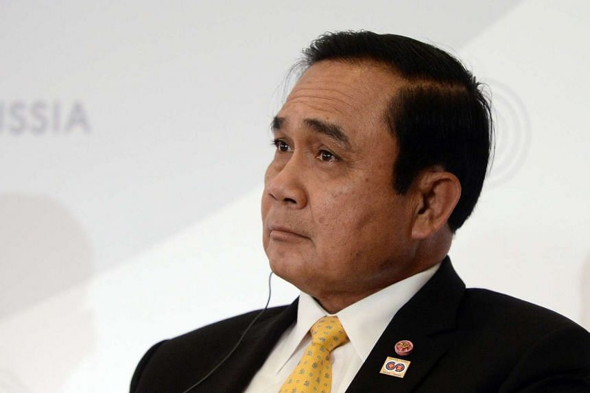 Thai Prime Minister Prayut Chan-o-cha attends a meeting on the sidelines of the ASEAN-Russia Commemorative Summit in Sochi, Russia, on May 20, 2016.