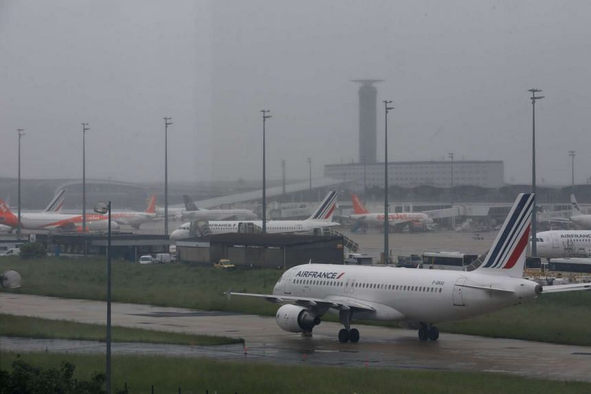 An Air France A320 aircraft is seen on the tarmac at the Charles de Gaulle International Airport in Roissy, near Paris, France, on May 31, 2016 as Air France pilots voted on Monday to go on strike ahead of the Euro soccer tournament.
