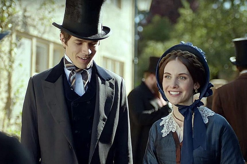 Actors Harry Richardson and Alison Brie (both above) star in Dr Thorne.
