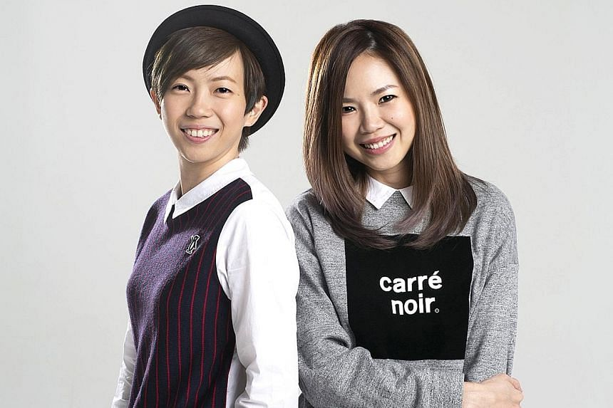 The Freshman's Chen Diya (above left) and Carrie Yeo (right).