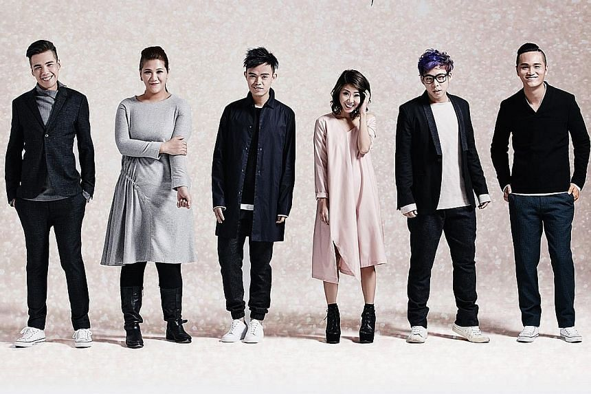 MICappella comprise (from far left) Eugene Yip, Calin Wong, Juni Goh, Tay Kexin, Goh Mingwei and Peter Huang.