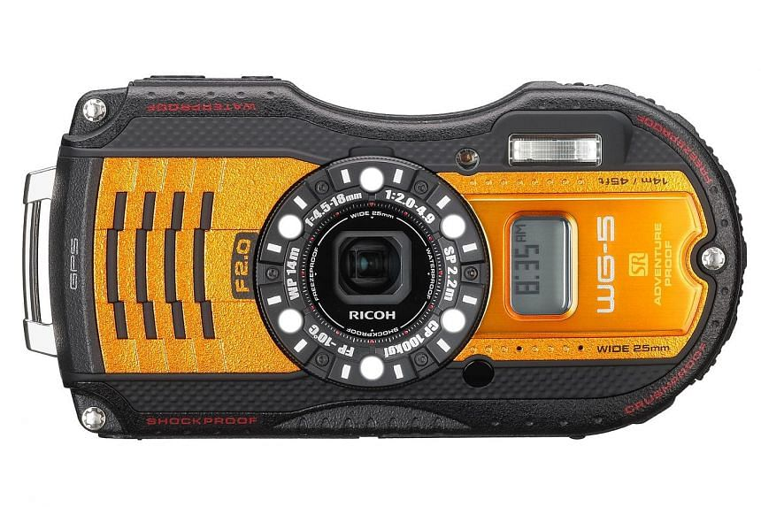 The Ricoh WG-5 comes with a variety of shooting modes, such as for underwater and a macro mode.
