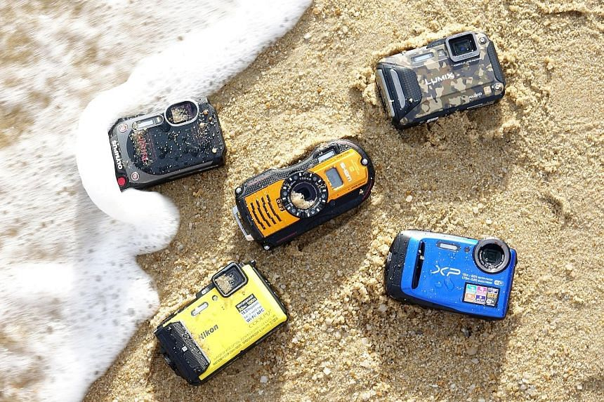 The cameras were subjected to seawater, sand and drop tests by a six-year-old.