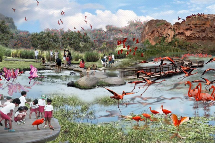 Artist's impression of the new Bird Park and aviary walk-in.