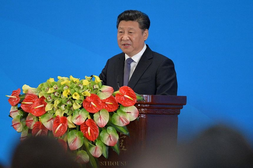 China's President Xi Jinping delivers a speech at the opening ceremony of the fifth regular foreign ministers' meeting of the Conference on Interaction and Confidence Building Measures in Asia (CICA).