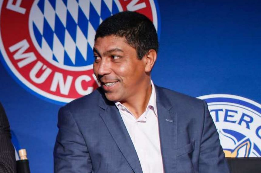 Former football player Giovane Elber at a press conference to announce the teams, cities, venues, matchups and dates for the 2016 International Champions Cup in New York, on March 22, 2016.