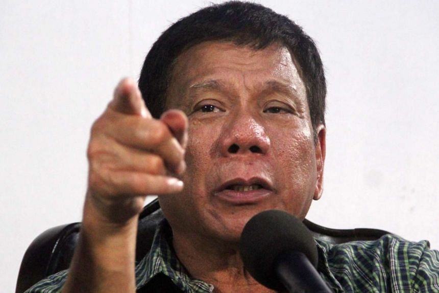 Philippine president-elect Rodrigo Duterte speaking during a press conference in Davao City, southern Philippines, on May 31, 2016.
