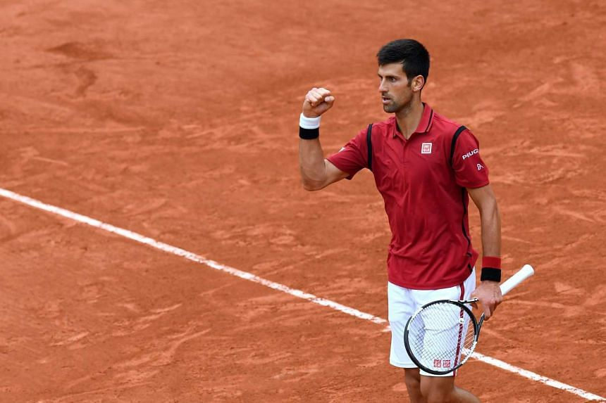 Serbia's Novak Djokovic during his men's fourth round match against Spain's Roberto Bautista-Agut at the Roland Garros 2016 French Tennis Open in Paris on June 1, 2016.