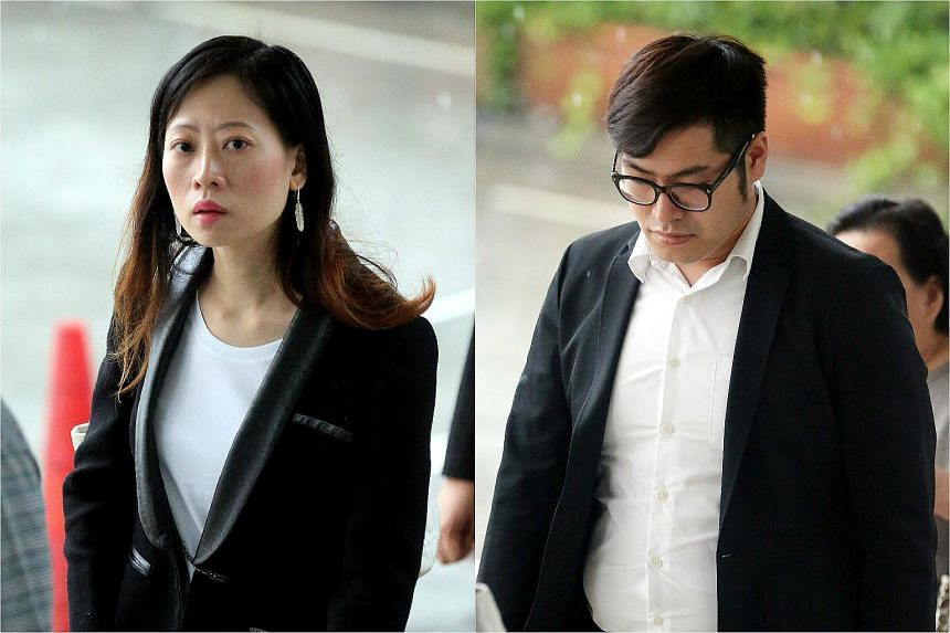 Pek Siew Gek (left) faces 14 charges while Tang Yudong faces two. They were managers and directors of KIBS.