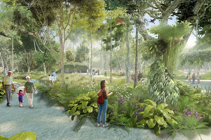 Artist's impression of the public green spaces.