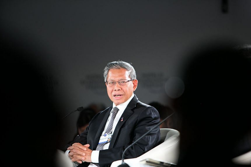 Mustapa Mohamed, Minister of International Trade and Industry of Malaysia captured at the World Economic Forum on Asean in Kuala Lumpur, Malaysia, June 2.