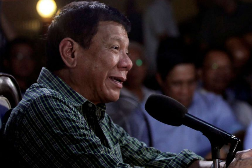 Philippines' President-elect Rodrigo Duterte answers questions at a news conference in Davao City, southern Philippines, on May 31, 2016.