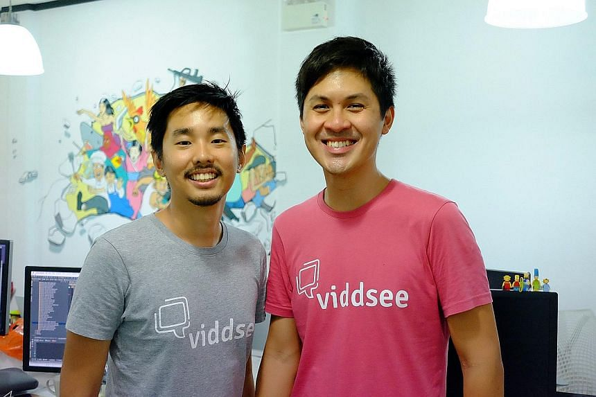 Viddsee co-founders Ho Jia Jian (far left) and Derek Tan. Kicking off the new content offerings are five short video features from here collectively called Singapore Stories.
