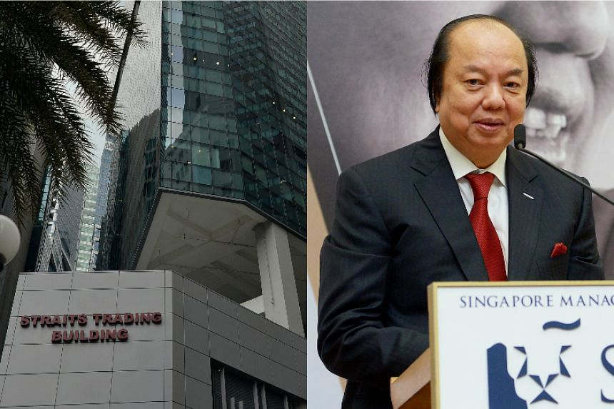 Investment holding firm MYP said that Dr Tahir (right) has signed a letter of offer to buy the 999-year leasehold Straits Trading Building (left) from Sun Venture Group.
