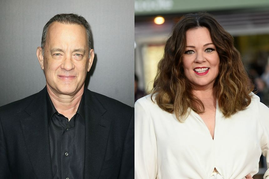 Oscar winner Tom Hanks and Oscar-nominated comedienne Melissa McCarthy will be in Singapore this month for a series of publicity events.