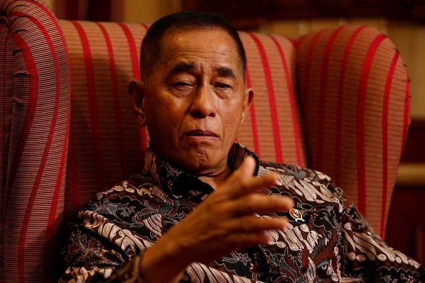 Indonesia's defence minister Ryamizard Ryacudu gestures during an interview in Jakarta, Indonesia, on May 11, 2016.