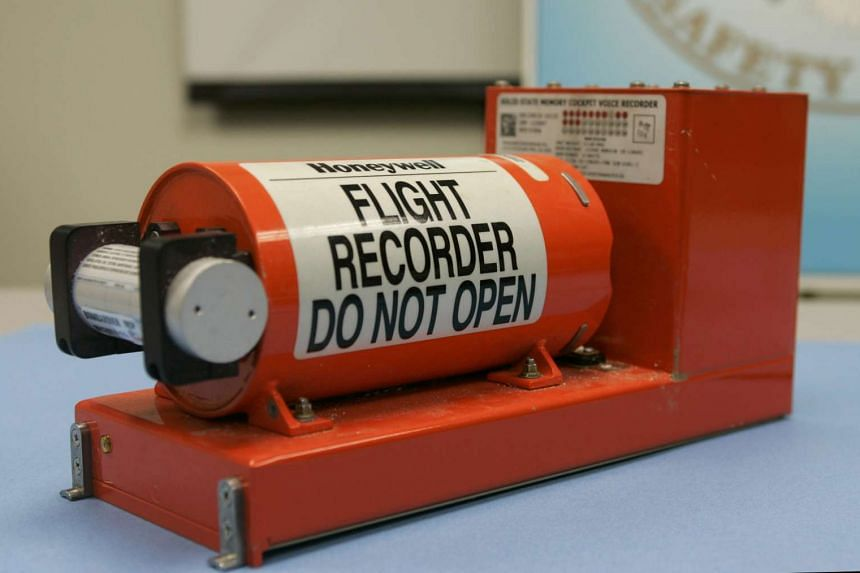 A cockpit voice recorder from the crash of Continental Connection flight 3407 near Buffalo, New York, is displayed at the National Transportation Safety Board headquarters in Washington, on Feb 13, 2009.