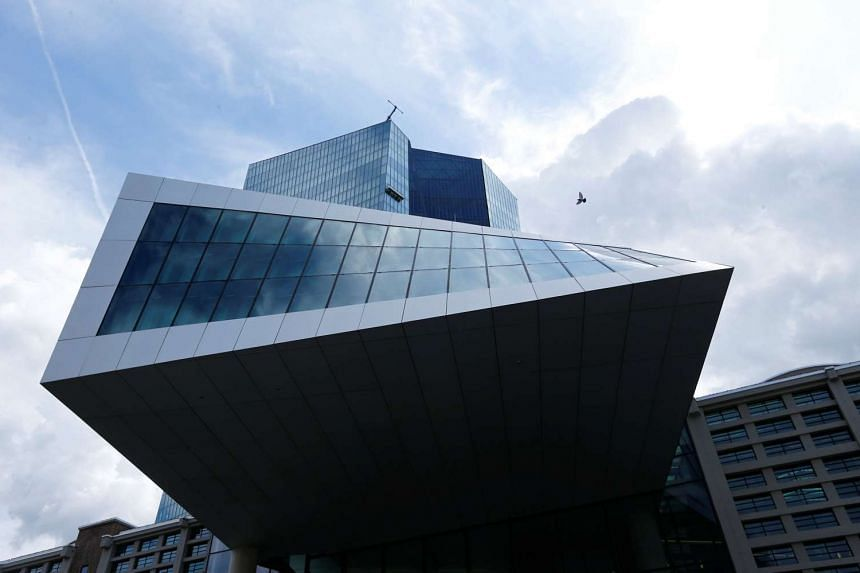 The European Central Bank (ECB) headquarters are pictured in Frankfurt, Germany.