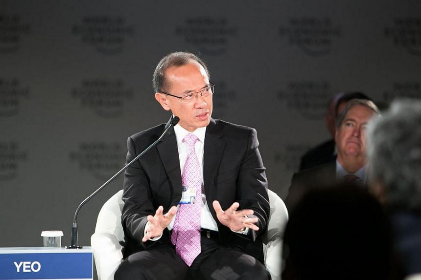 Mr George Yeo (above) speaking at the World Economic Forum on Association of Southeast Asian Nations, held in Kuala Lumpur.