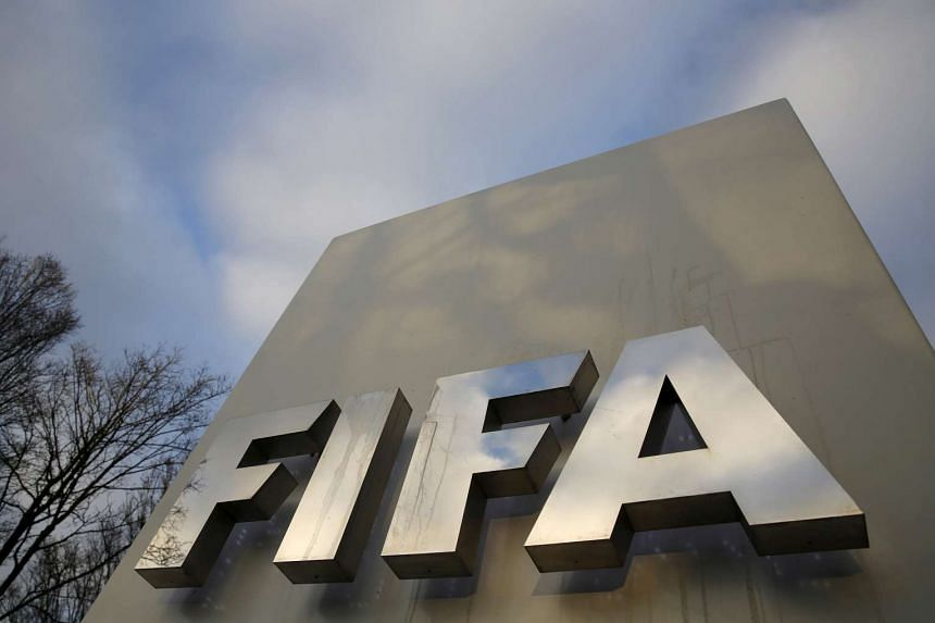 A Fifa sign is seen outside the Fifa headquarters in Zurich, Switzerland.