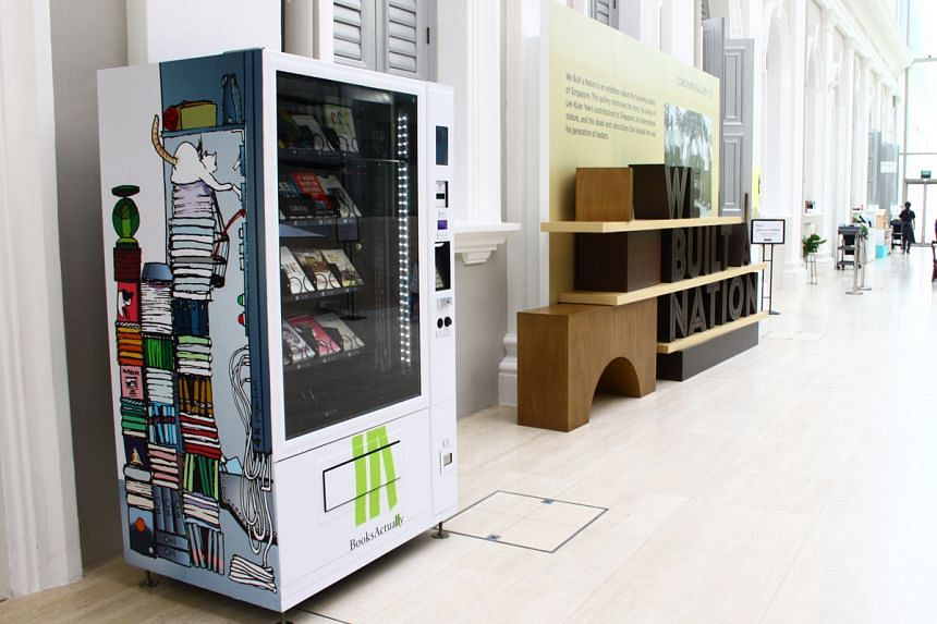 A book vending machine by BooksActually at the National Museum of Singapore.
