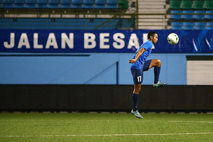 Adam Swandi, who fractured a cheekbone and was out of action for more than a month, returned to action last Sunday in an RHB Singapore Cup match.
