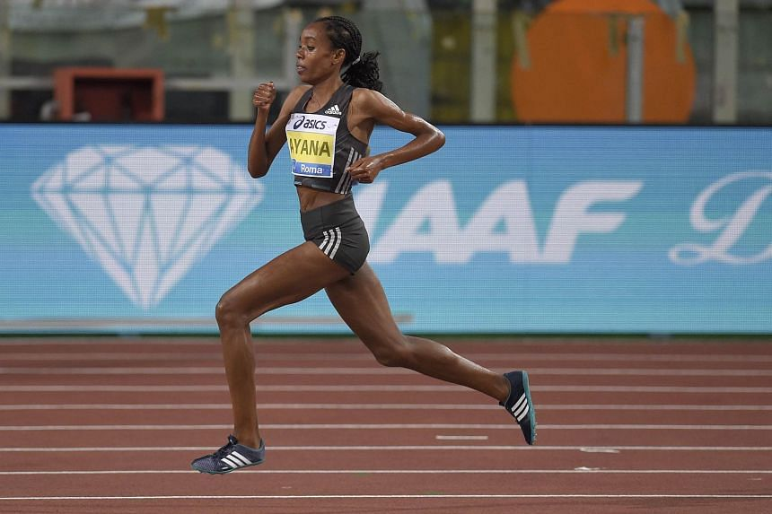Almaz Ayana of Ethiopia competes in the Women's 5,000m event at the Diamond League meeting in Rome, Italy, on June 2, 2016.
