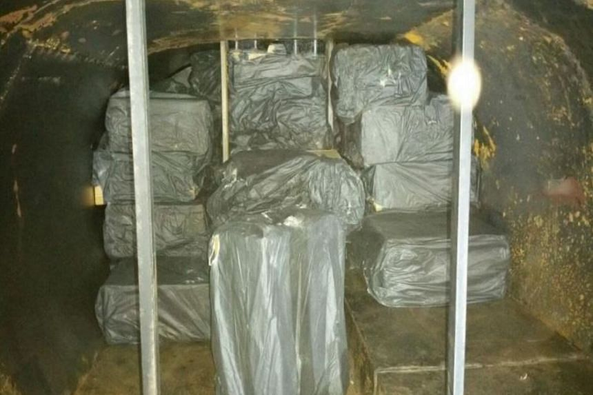 The contraband cigarettes were hiddin in a modified compartment at the rear end of a bitumen bowser on the truck.