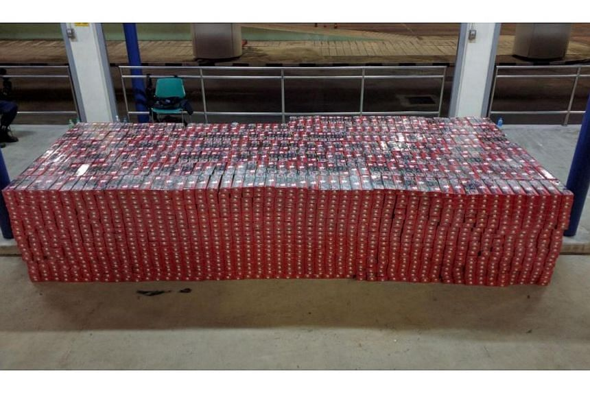 The 6,500 cartons of contraband cigarettes seized by customs officers on June 2, 2016.
