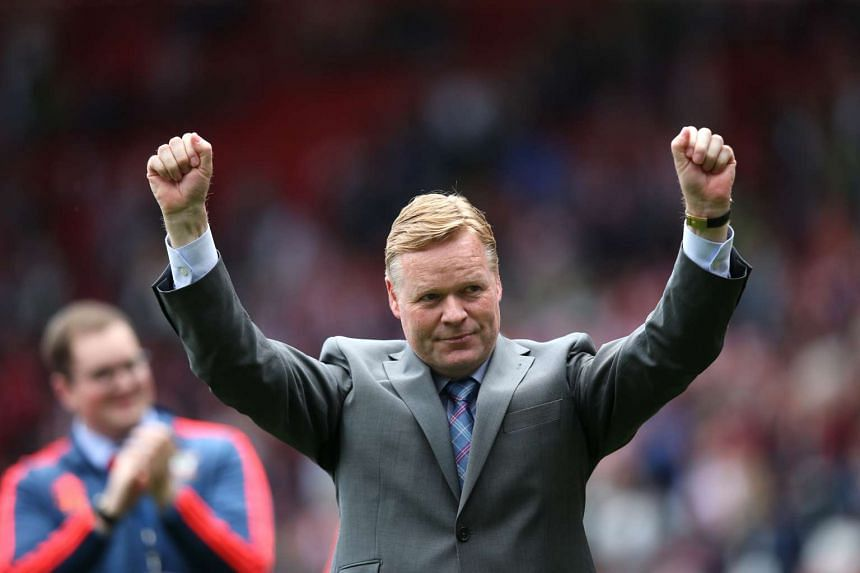 Southampton manager Ronald Koeman acknowledges fans at the end of a Barclays Premier League match against Crystal Palace on May 15, 2016.