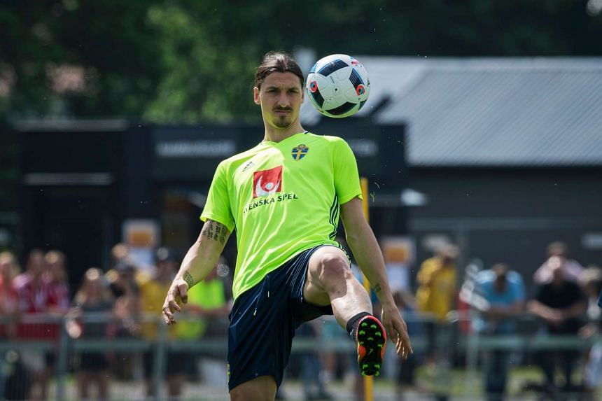 Sweden's forward and team captain Zlatan Ibrahimovic attends a training session in Bastad, Sweden, on June 1, 2016.