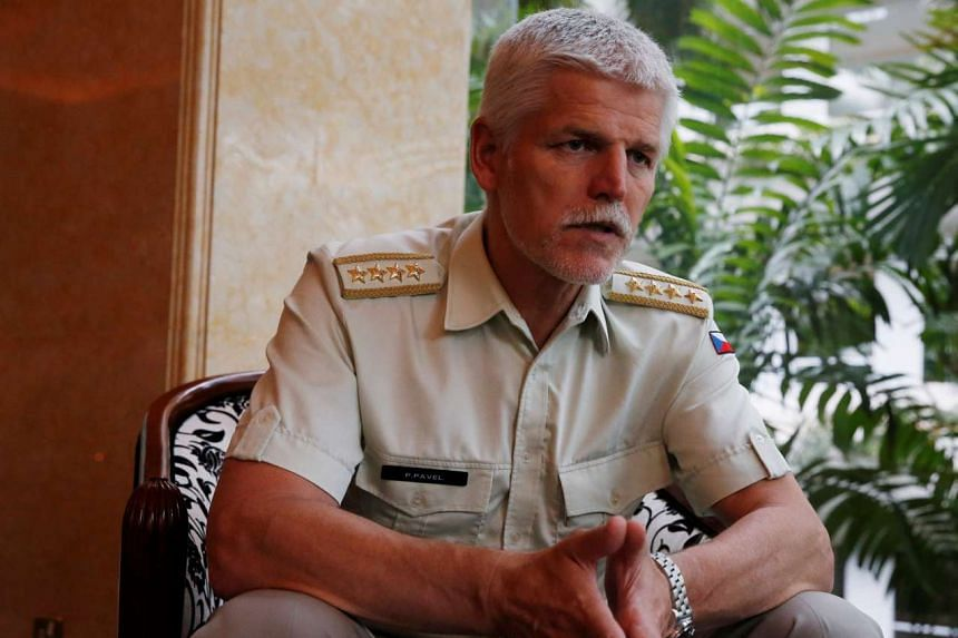Nato's top military officer, General Petr Pavel, speaks on the sidelines of the IISS Shangri-La Dialogue in Singapore, on June 3, 2016.