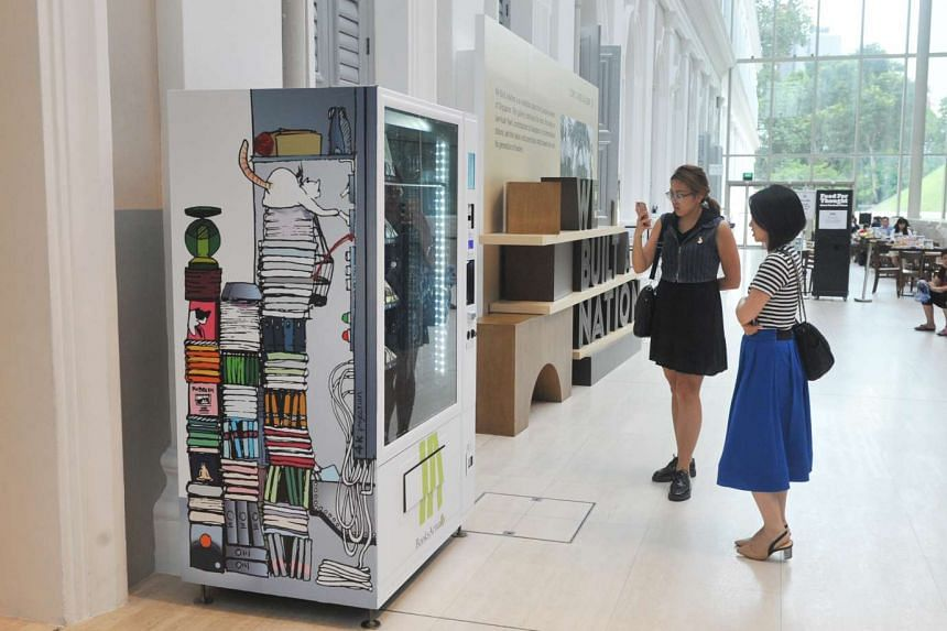 BooksActually's first book vending machines can be found at the National Museum of Singapore and Orchard Road.