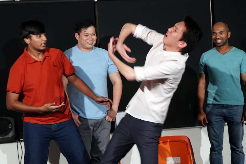 The Improv Company holds regular performances where the players ad lib dialogue, characters and stories.