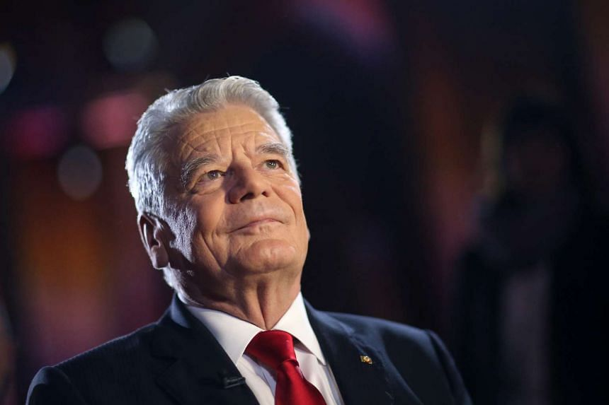 German President Joachim Gauck in Mainz, Germany, on Dec 18, 2015.
